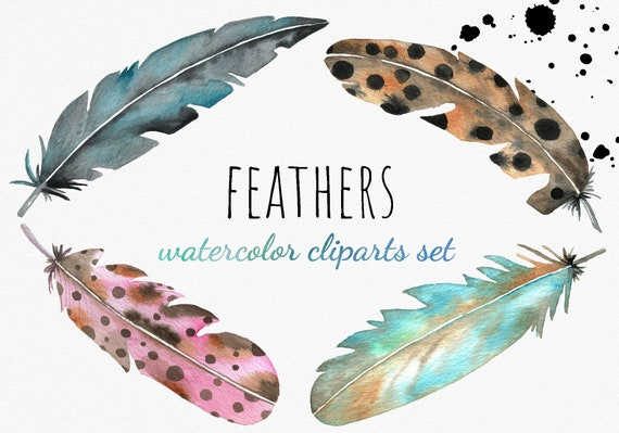 Boho Feather Watercolor Feather Thank You Card Printable Instant Download