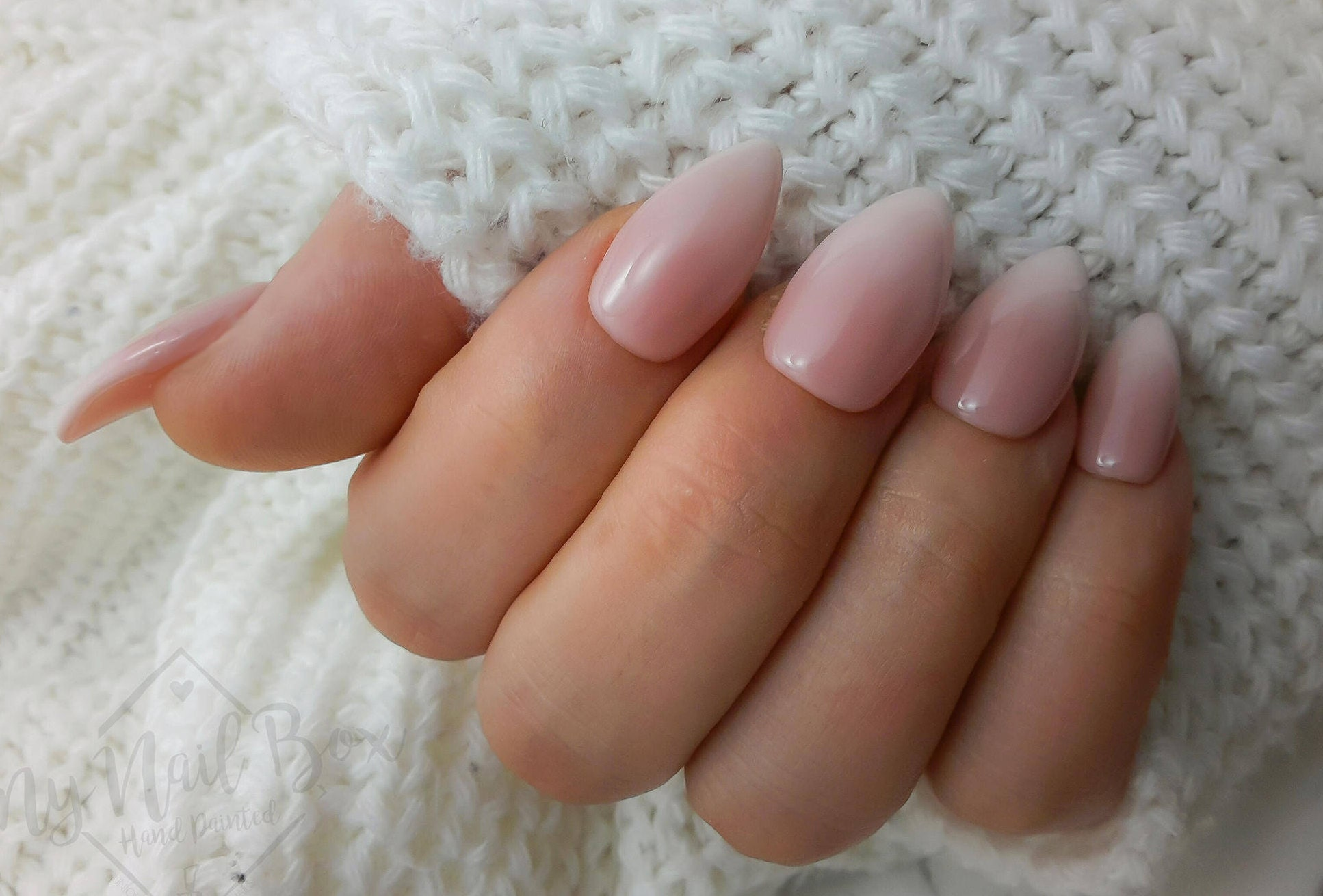 Press On Ombre Nails Press On Nails Ombre Fake Nails Almond Etsy