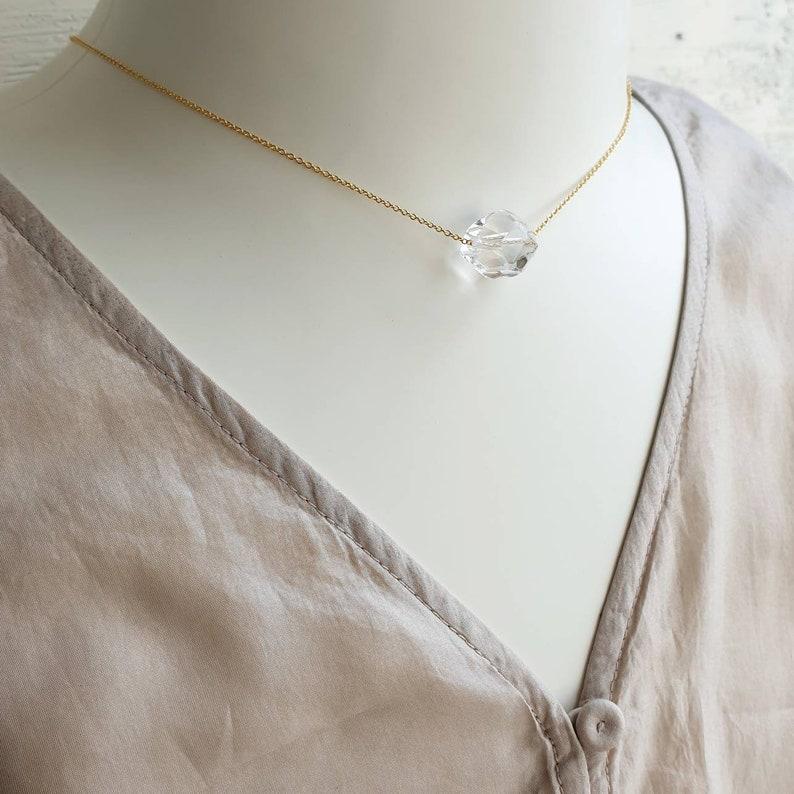 Gold Electroplated Pendant 1 Piece Clear Quartz Smooth Gemstone Tumble Pendant April Birthstone Pendant.