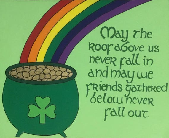 Customizable St Patrick S Day Canvas Painting Etsy