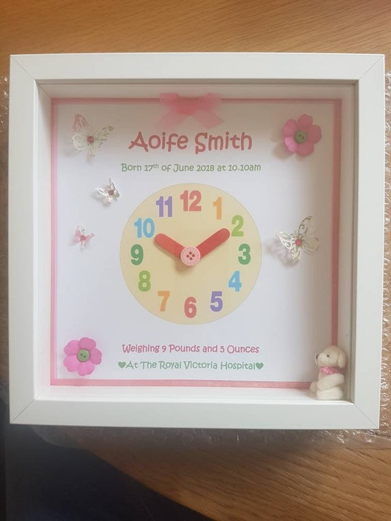 Personalised Clock Baby Frame | Etsy