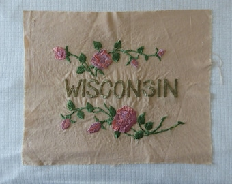Wisconsin Embroidery Piece