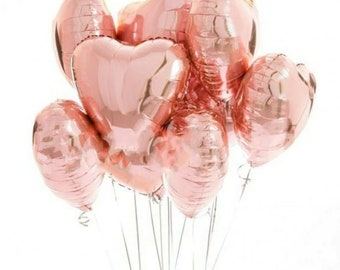 18 Rose Gold Balloon Etsy