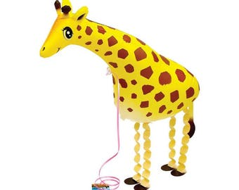 Giraffe Balloons - HUGE 32 Inch Walking Animal Balloon, Animal Themed Party, Animal Birthday Party, Decorations, Themed Party, Baby Shower