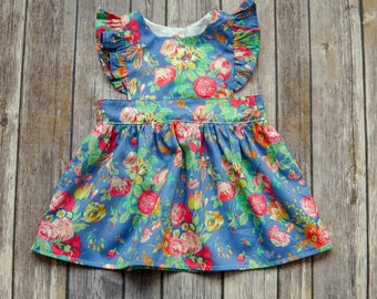 Pinafore Dress - Liberty Dress - Liberty of London Dress - Toddler Pinafore - Girls Pinafore - Liberty Pinafore - Pinnie Dress