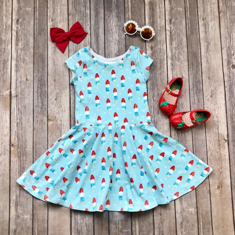 45e1a233281 Ice Pop Dress. Fourth of July Dress. Patriotic Dress. Summer