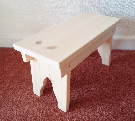 Wondrous Childrens Wooden Stool Grandpa Style Handcrafted In Red Deal Pine Short Links Chair Design For Home Short Linksinfo