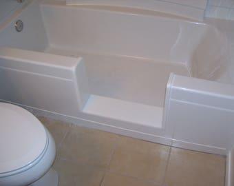 Custom LONG - Bathtub to Walk-in Shower Conversion Kit