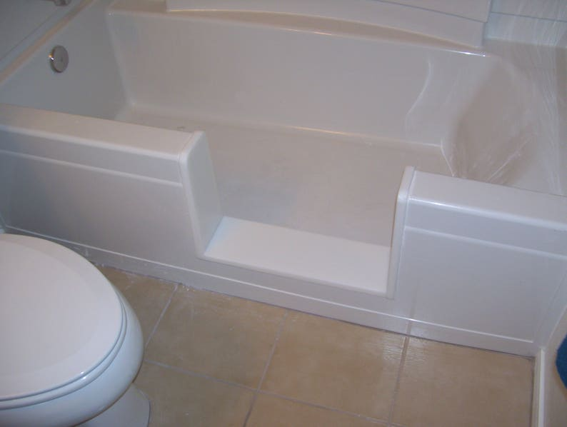 Custom Standard Bathtub To Walk In Shower Conversion Kit Etsy
