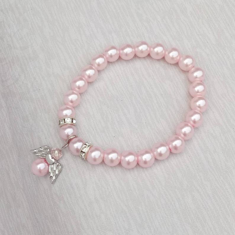 002b237b4 Glass Pearl Angel Bracelet Favor First