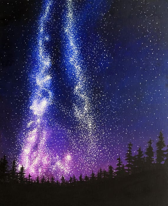 Canvas Wall Art Print Painting Milky Way Galaxy Picture Bedroom Living Room Deco