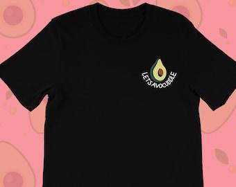 c9c487c38c Avocado Shirt Vegan Shirt Avocado T Shirt Let's Avocuddle Avocado T-shirt  Vegan T Shirt Vegan Tees Women Veganism Vegan Clothing Tshirt