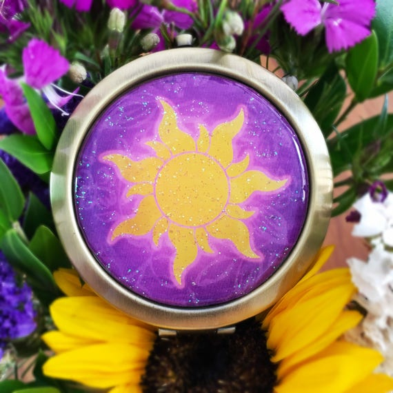 Corona Sun Compact Mirror Us Shipping Included Tangled Etsy