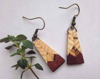 Handmade Wooden Earrings | ethical and sustainable jewelry
