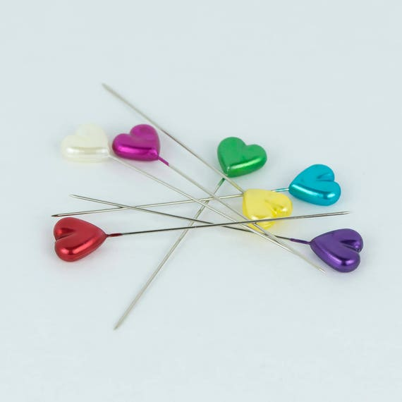 Heart sewing pins, decorative pins