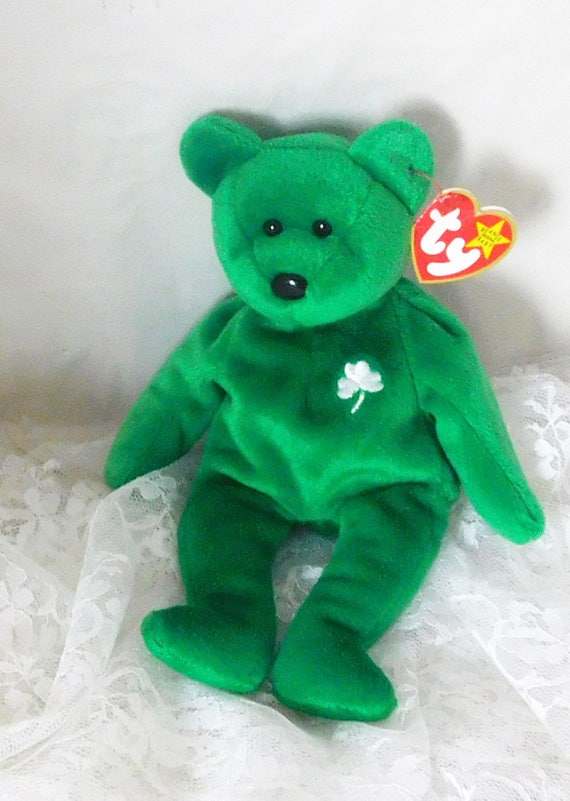 7b63f904fd5 TY Beanie Bear Erin 1997 Retired Rare Errors