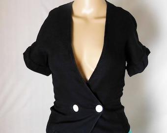Miss Piattelli Women's Blouse Size 1 - Vintage Mid-Century Lorenzini 100% Cotton