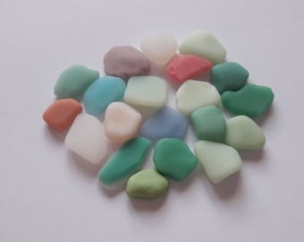 20 assortment of colors, French milk glass / french milk glass