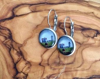 Nubble Lighthouse York Maine  Earrings Nubble Light Jewelry