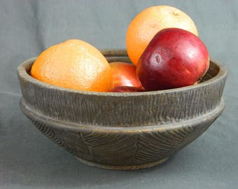 Hand turned textured bowl
