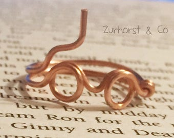 Harry Potter Inspired Copper Ring Gift Christmas Birthday
