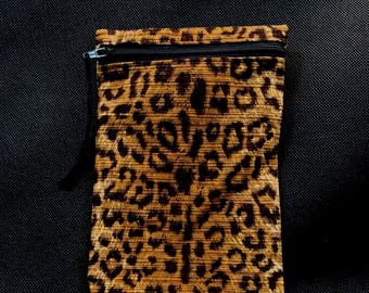 NO RULES Leopard Mini Pouch/Cell Phone Case