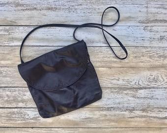 Distressed Vintage Leather, Crossbody Bag, Oxblood, Hobo, Slouch, Handbag, Purse, Vintage Bag
