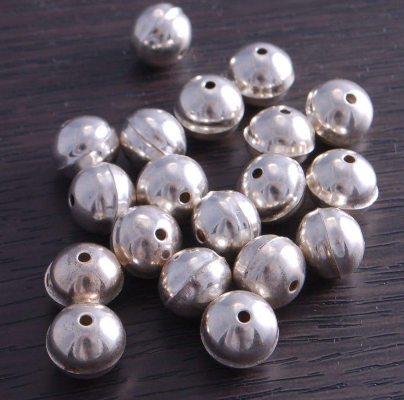 20pc 7x4mm antique silver finish metal bead caps-3047H