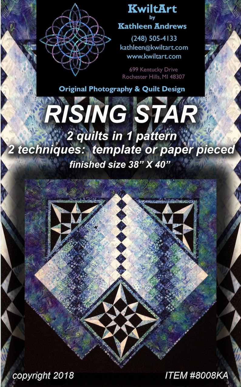 Rising Star 2 in 1 Quilt Pattern Digital File Download image 0