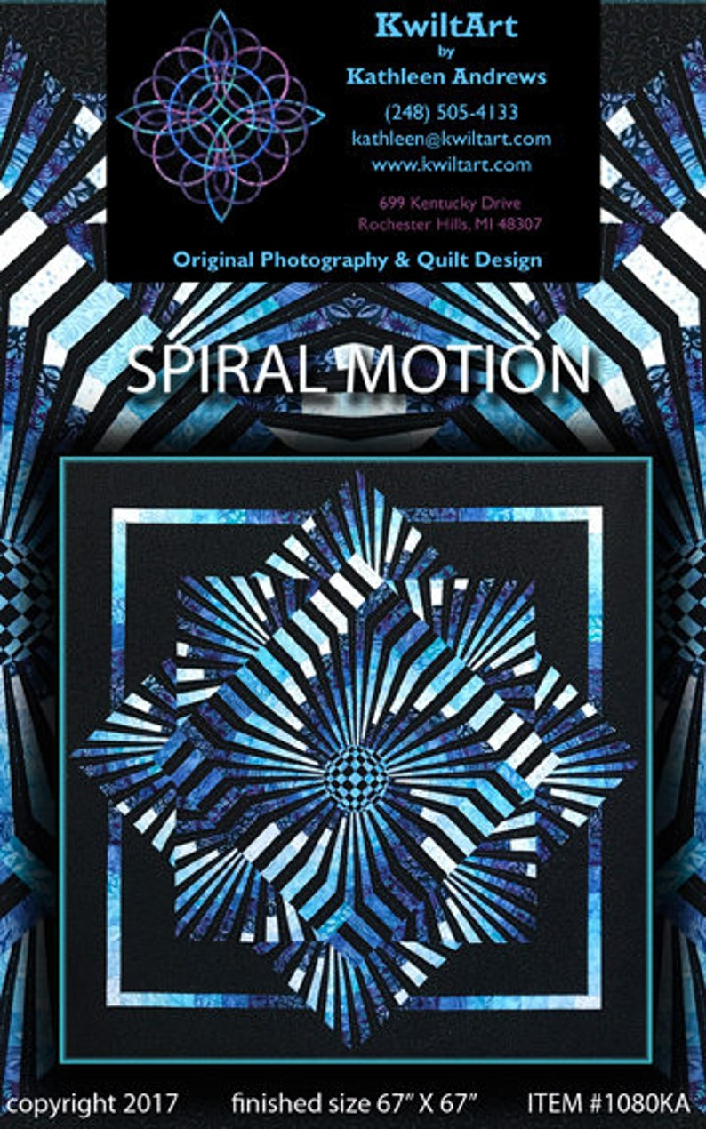 Spiral Motion Quilt Pattern Digital File Download image 0