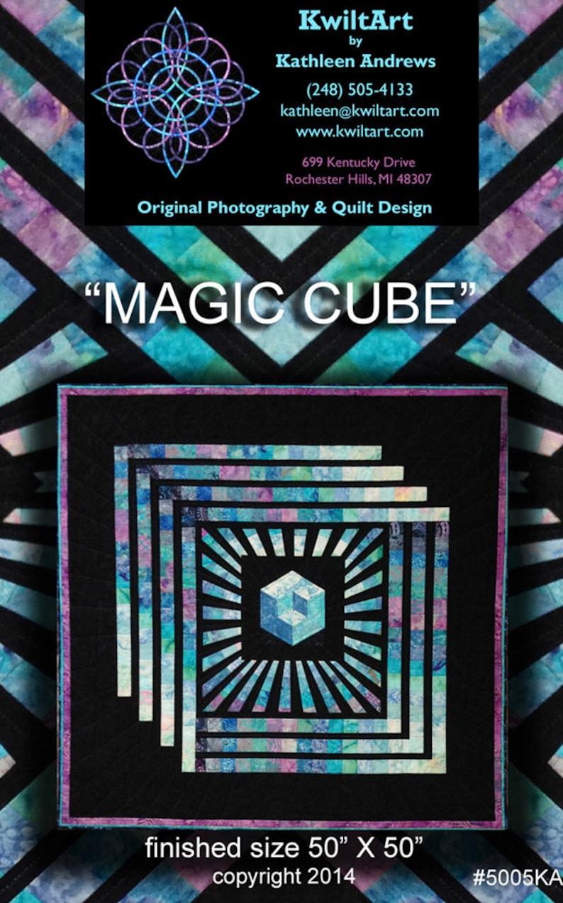 Magic Cube Quilt Pattern Digital File Download image 0
