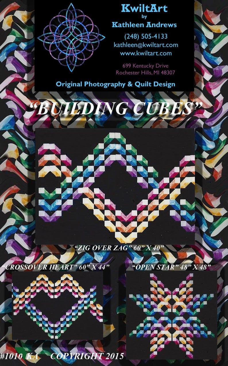 Building Cubes Quilt Pattern Digital File Download image 0