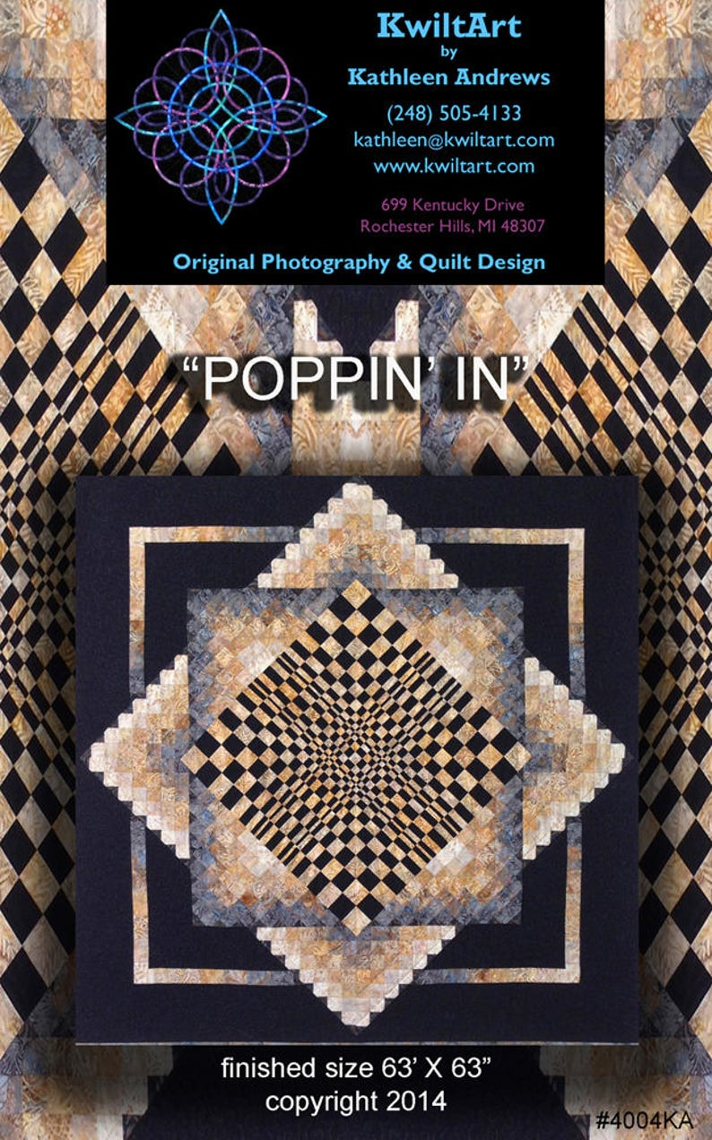 Poppin In Quilt Pattern Digital File Download image 0