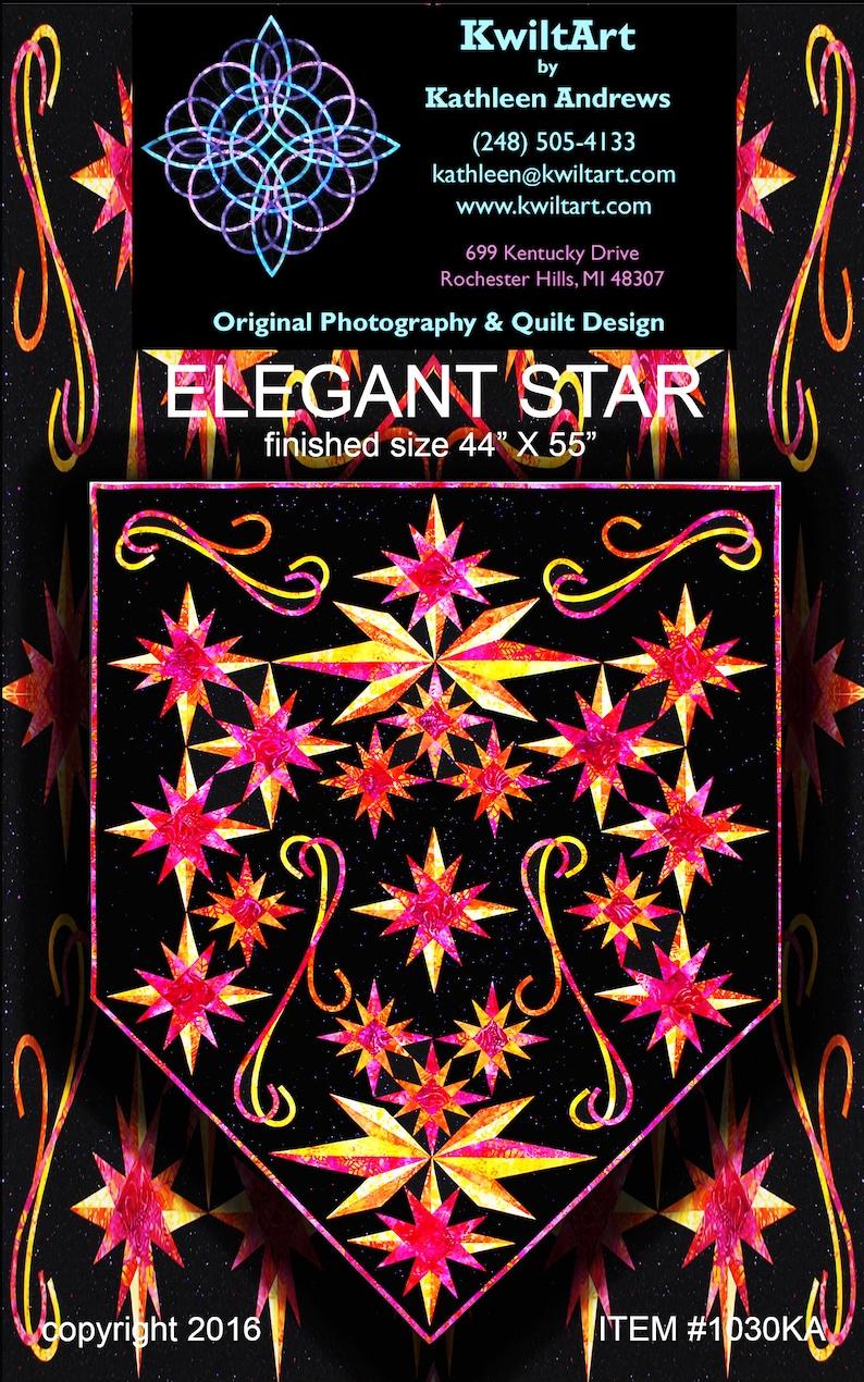 Elegant Star Quilt Pattern Digital File Download image 0