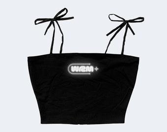 3M Reflective Logo Top | Cute Goth Crop Tank Top | Egirl Alt Clothing Plus Size