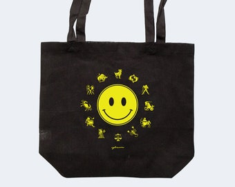 Zodiac Tote | Recycled Canvas Tote Bag | ASTROLOGY ZODIAC