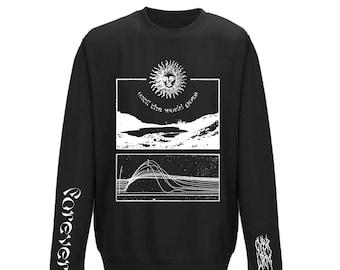 WORLD Crewneck Sweatshirt | Abstract Graphic Design Pullover