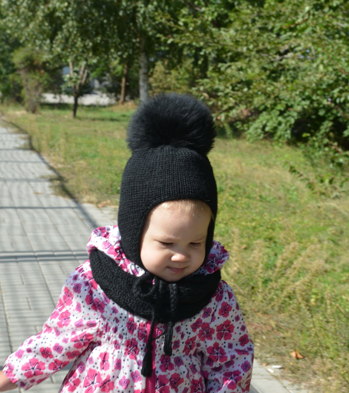 Kid Child Baby Boys Girls Beanie Hat Cap Winter Warm Pom Bobble Knit Snood Scarf