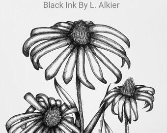Print: Cone-Flower