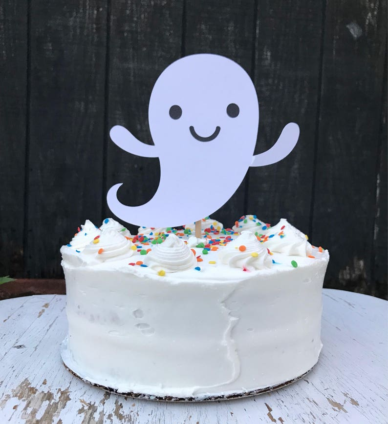Tremendous Ghost Cake Topper Ghost Topper With Name Party Etsy Funny Birthday Cards Online Fluifree Goldxyz