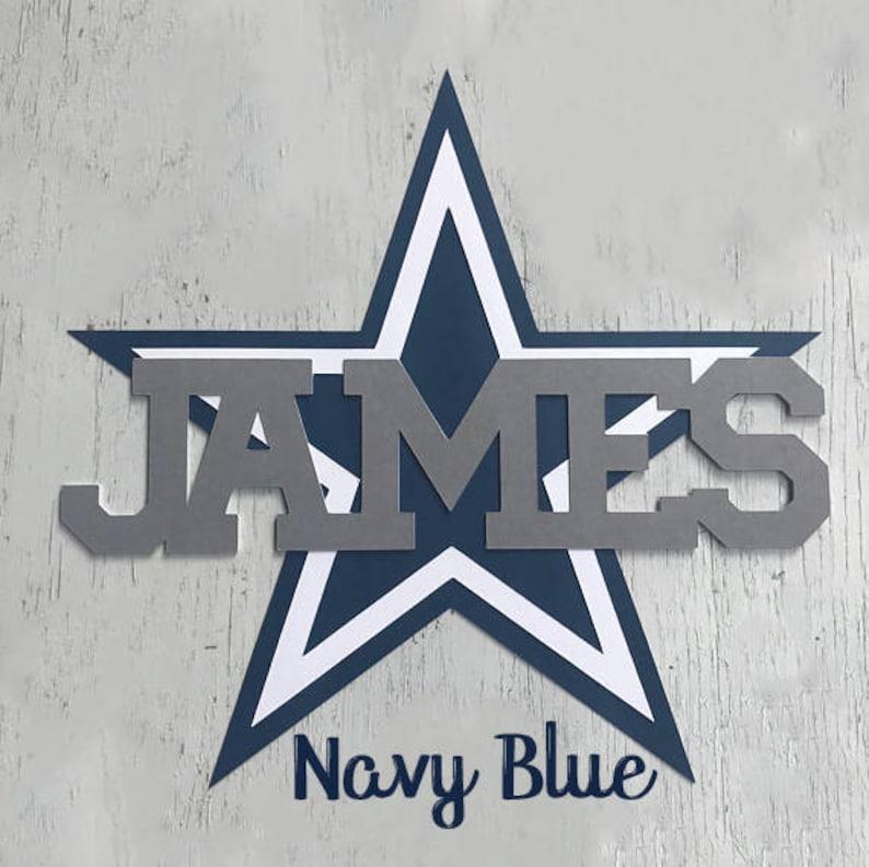 18c332713 Dallas Cowboys Star Cake Topper Custom Navy Star Party