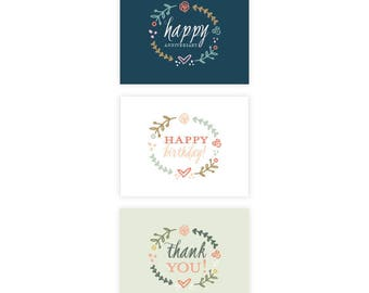 Assorted Boxed Set - Greeting Card Set - Greeting Cards - Box Set - Greeting Cards - Set of 6