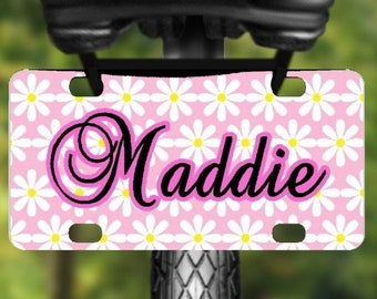 comic book inspired design bicycle plate Superhero personalize with a name