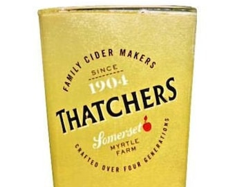 Personalised Thatchers Cider Glass Engraved