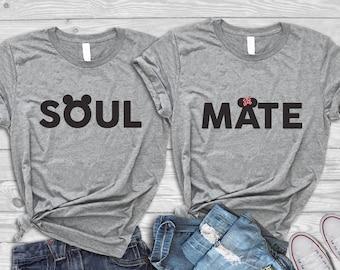 Disney couple shirts, Disney matching shirts, Disneyland Matching Shirts, Disney Valentines, Disney trip, Disney vacation, His Hers shirts
