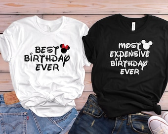 Disney Couple Shirts Matching Birthday Disneyland Trip Vacation Mickey Minnie