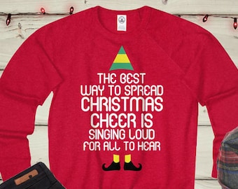 Elf Christmas Sweater Etsy