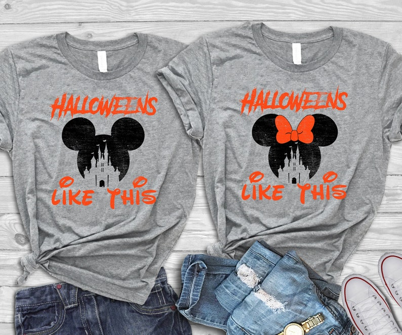 0688000922c73 Disney shirts Disney couple shirt Disney Halloween Couples | Etsy