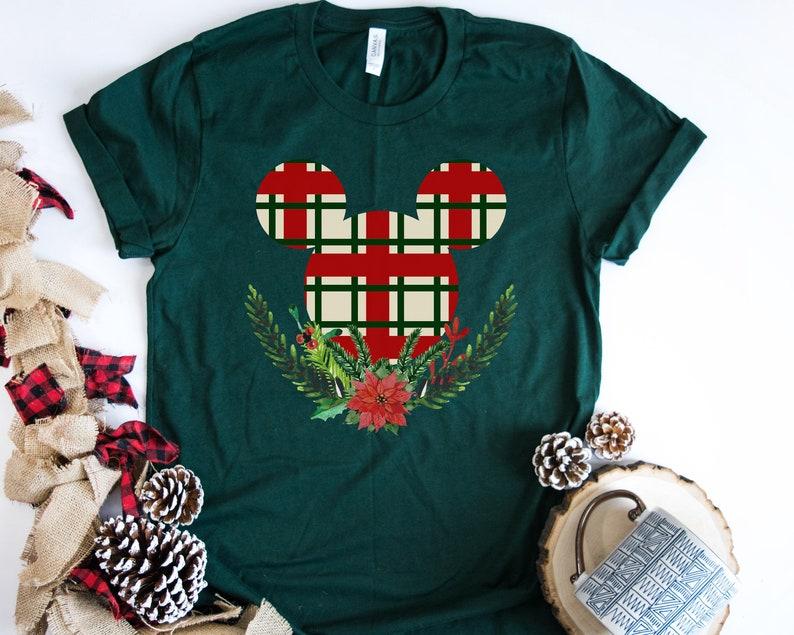Disney Christmas Shirts.Disney Christmas Shirts Disney Family Shirts Disney Holiday Shirt Buffalo Plaid Mickey Ears Mickey Christmas Shirt Mickey Holiday Shirt