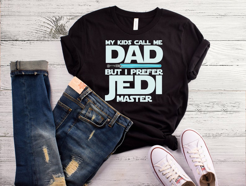 NEW DAD ALL SIZES FATHERS DAY GIFT NEW STAR WARS T SHIRT JEDI MASTER